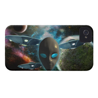 UFO And Alien iPhone 4 Cover