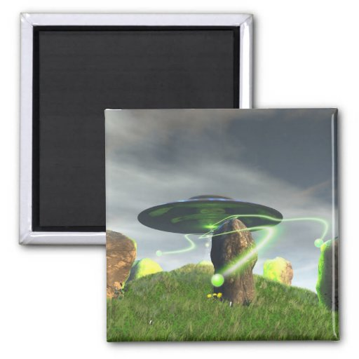 UFO and Ancient Stone Circle Magnet