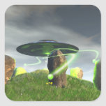UFO and Ancient Stone Circle Sticker