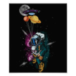 UFO Astronaut Spaceshuttle Space Force Poster