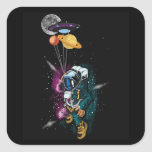 UFO Astronaut Spaceshuttle Space Force Square Sticker