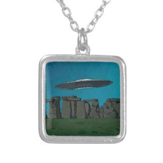 UFO At Stone Henge Pendant