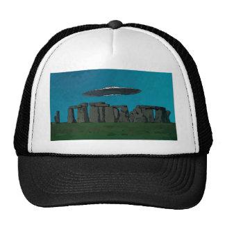 UFO At Stone Henge Trucker Hat