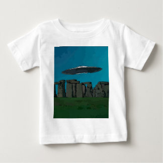 UFO At Stone Henge T Shirts