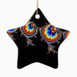 Ufo Attack - Fractal Art Ceramic Ornament