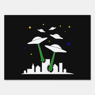 UFO Attack Lawn Sign