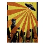 UFO Attack Postcard