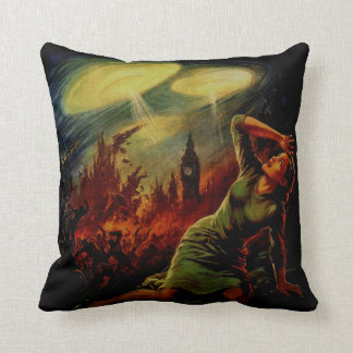 UFO Attack Throw Pillow