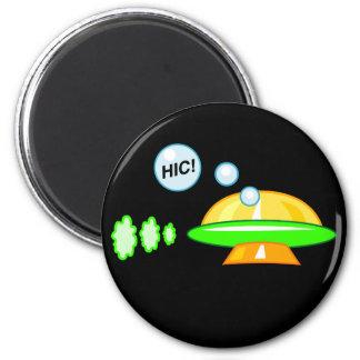 UFO aturdido Imán Redondo 5 Cm
