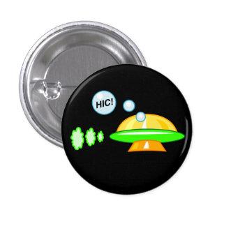 UFO aturdido Pin Redondo De 1 Pulgada