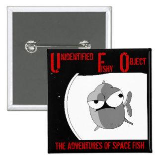 UFO (badge) 2 Inch Square Button