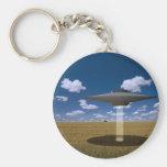 UFO BASIC ROUND BUTTON KEYCHAIN