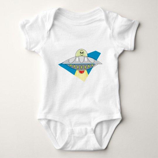 UFO Beam Up Baby Bodysuit