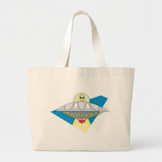 UFO Beam Up Tote Bags