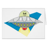 UFO Beam Up Greeting Cards