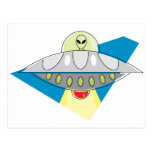 UFO Beam Up Postcard