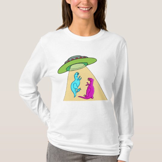 UFO Beams Up Dinosaurs T-Shirt