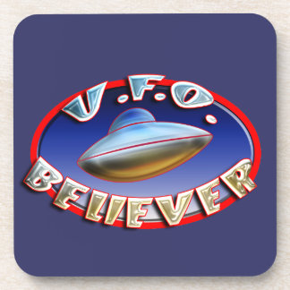 UFO Believer Cork Coaster