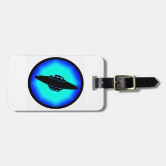 UFO BLUE SKIES TRAVEL BAG TAGS