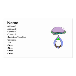 UFO Carrying Baby Blue Business Card