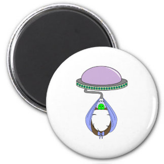 UFO Carrying Baby Blue Fridge Magnet