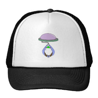 UFO Carrying Baby Blue Mesh Hat