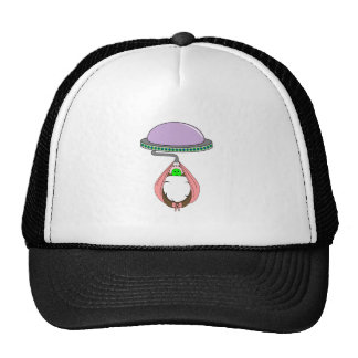 UFO Carrying Baby Pink Mesh Hat