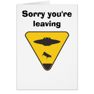 UFO Cattle greeting card