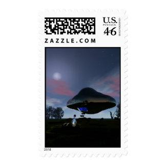 UFO Cattle Mutilation Postage