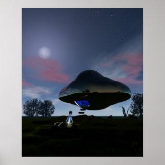 UFO Cattle Mutilation Poster