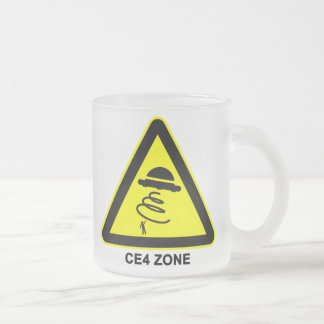 UFO CE4 Zone Warning Sign Cup