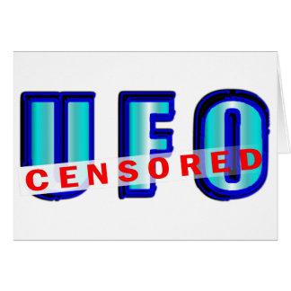 UFO Censored Card