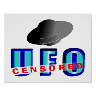 UFO Censored Poster