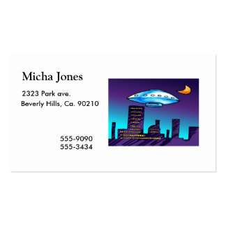 UFO City Double-Sided Standard Business Cards (Pack Of 100)