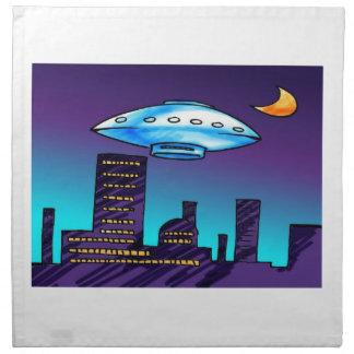 UFO City Cloth Napkin