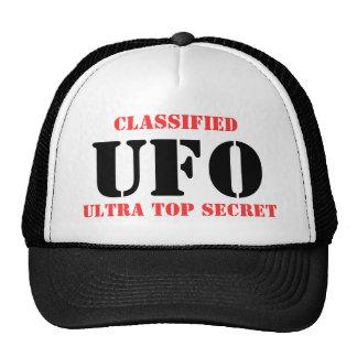 UFO, CLASIFICADO, ULTRA SECRETÍSIMO GORRAS DE CAMIONERO