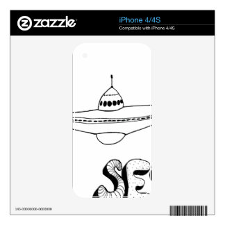 UFO Contact Skin For iPhone 4
