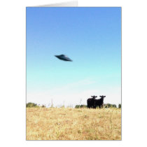 UFO Cow Abduction Card
