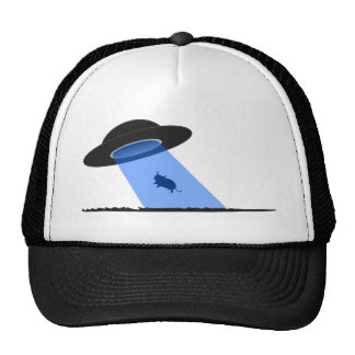 Ufo Cow Abduction clothing Mesh Hat