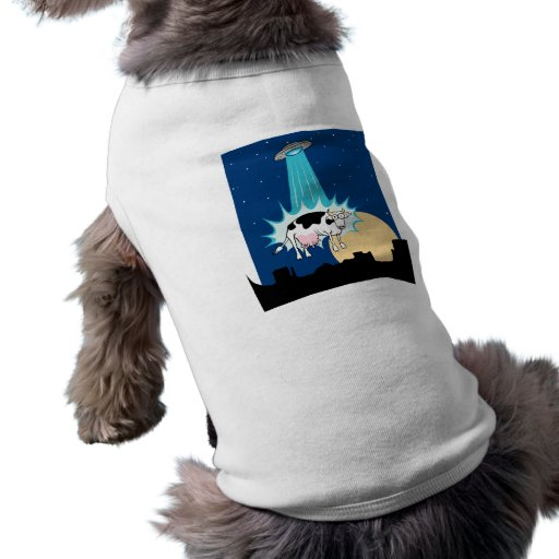UFO Cow Abduction Dog Tee
