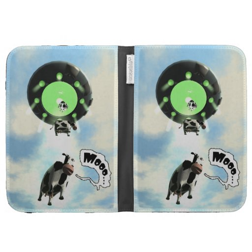 UFO Cow Abduction Kindle 3G Covers