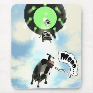 UFO Cow Abduction Mousepad