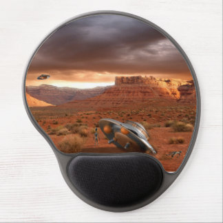 UFO Crash in Desert with Alien Fatality Mousepad Gel Mouse Pad