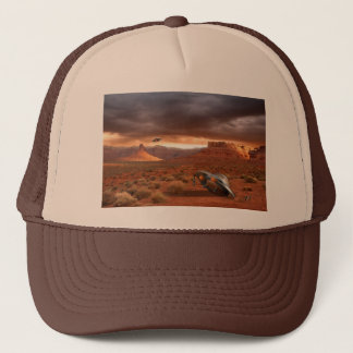 UFO Crash in Desert with Aliens Cap