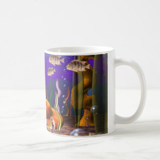 UFO crashes undersea as tribbles escape to water Classic White Coffee Mug