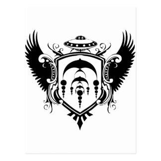 UFO Crest Postcard