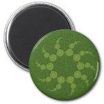 UFO Crop Circles 2 Inch Round Magnet