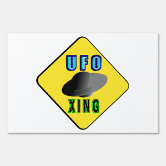 UFO Crossing Lawn Sign