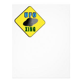 UFO Crossing Letterhead