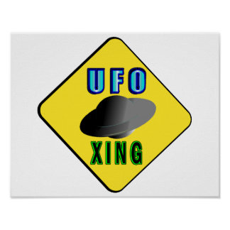 UFO Crossing Poster